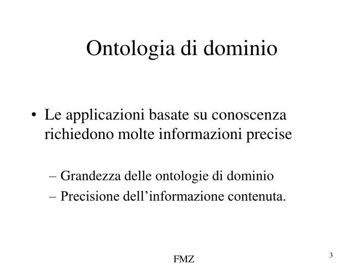Ontologia di dominio