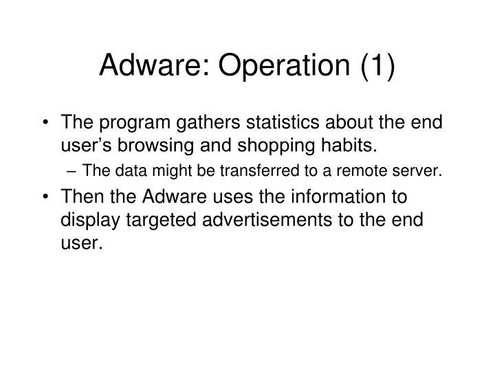 Adware: Operation (1)