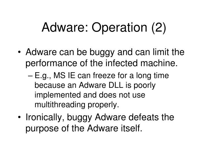 Adware: Operation (2)