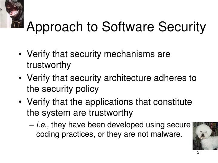 Approach to Software Security