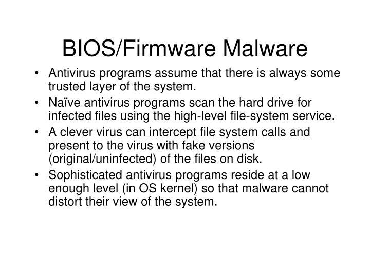 BIOS/Firmware Malware
