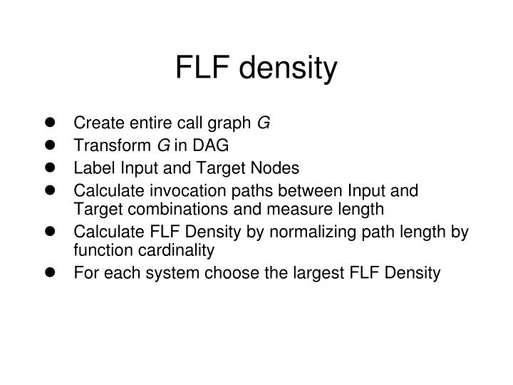 FLF density