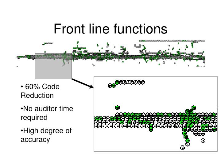 Front line functions