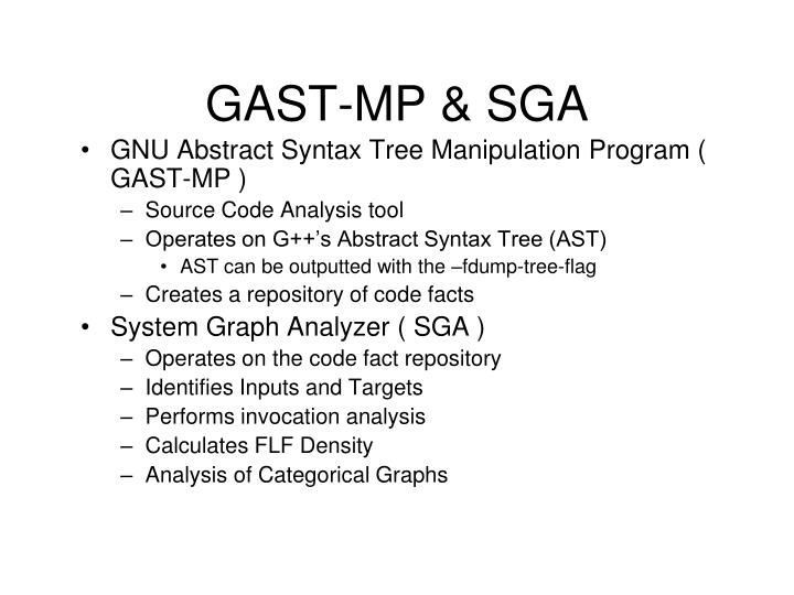 GAST-MP & SGA