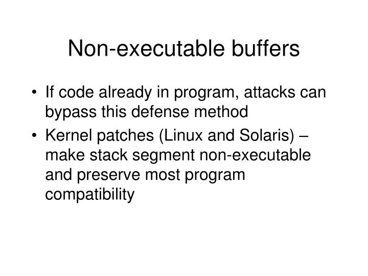 Non-executable buffers