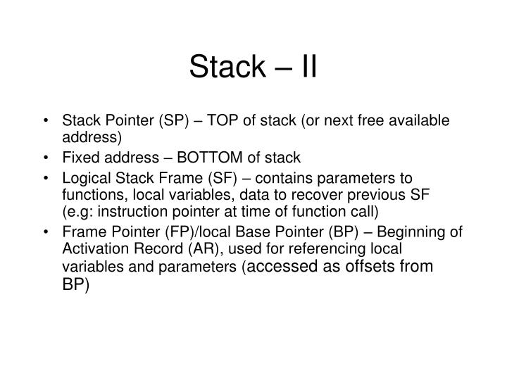 Stack – II