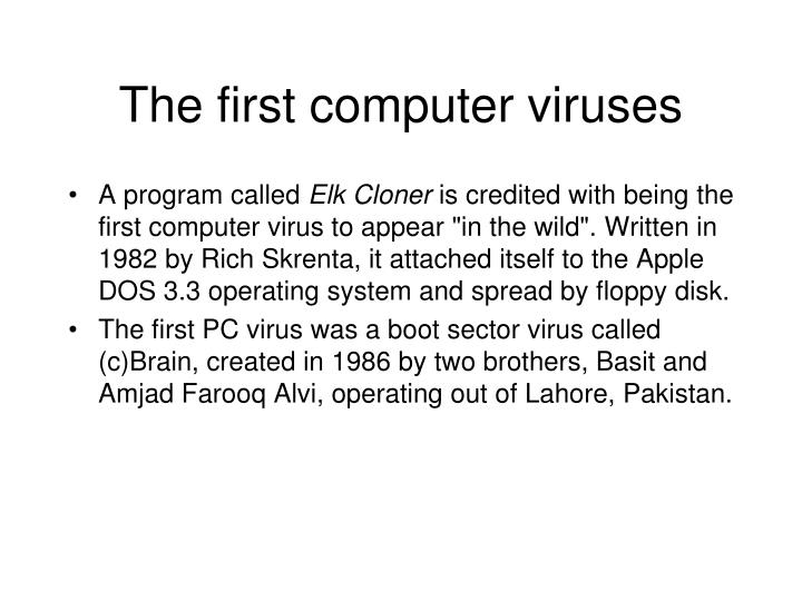 The first computer viruses