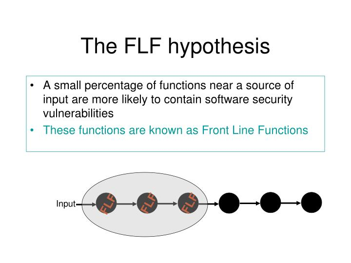 The FLF hypothesis