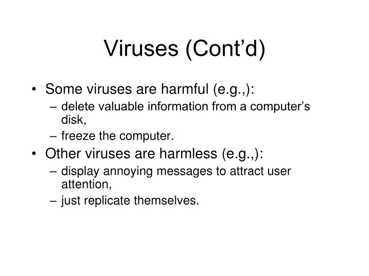 Viruses (Cont'd)