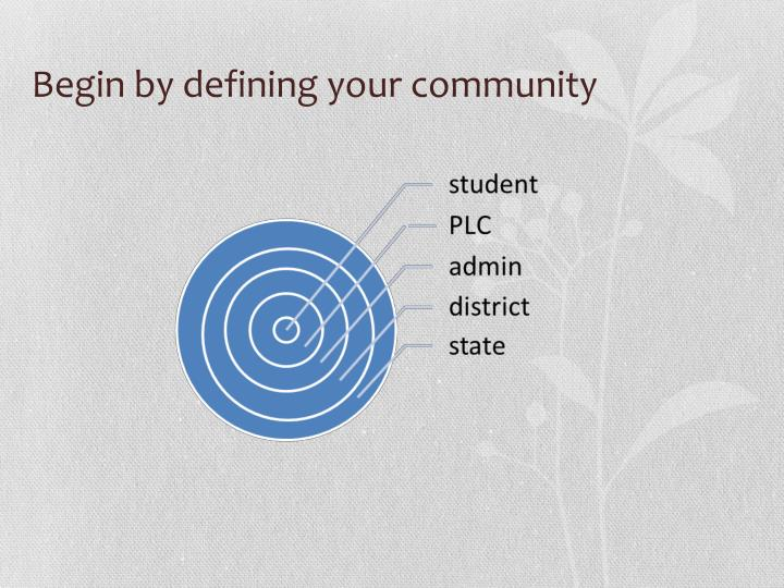 Begin by defining your community