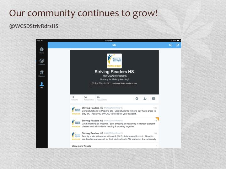 Our community continues to grow!