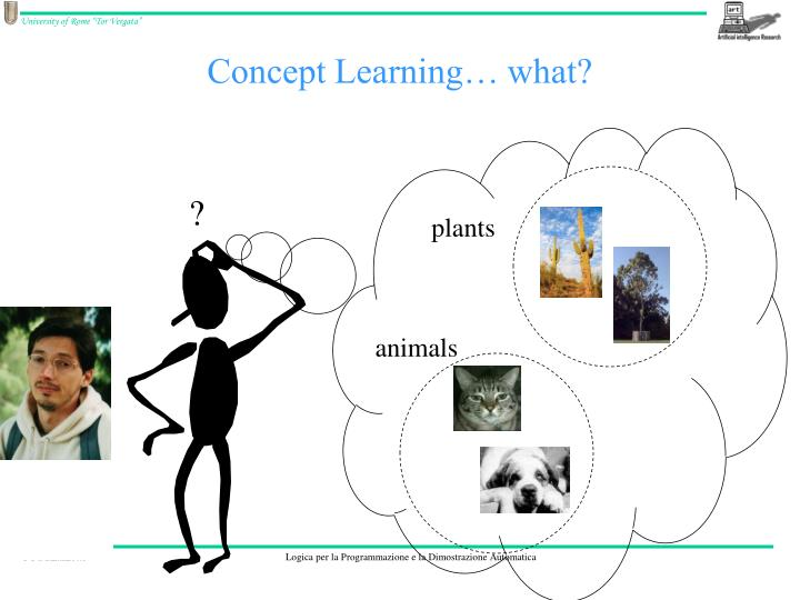 Concept learning what