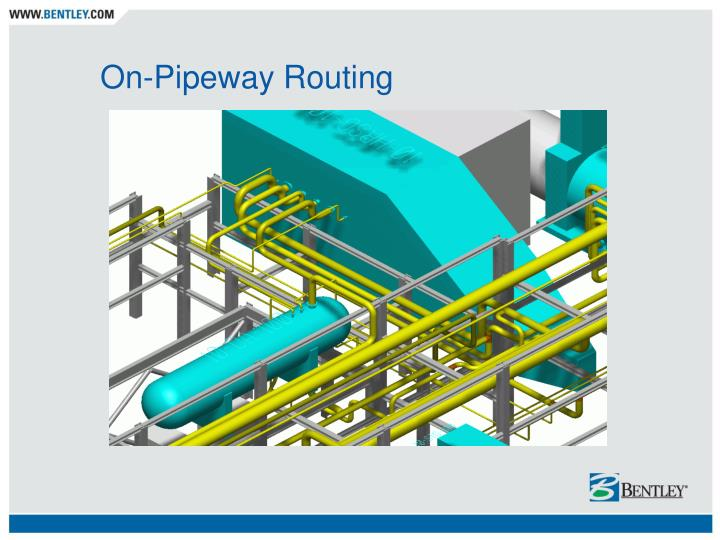 On-Pipeway Routing