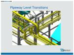 pipeway level transitions