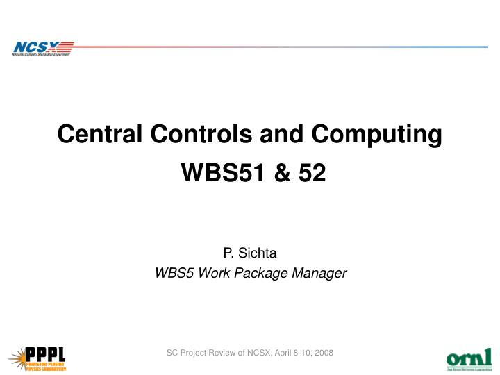 central controls and computing wbs51 52