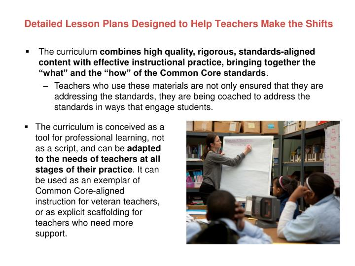 Detailed Lesson Plans Designed to Help Teachers Make the Shifts