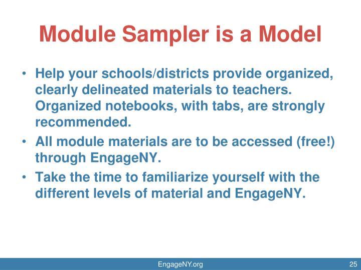 Module Sampler is a Model