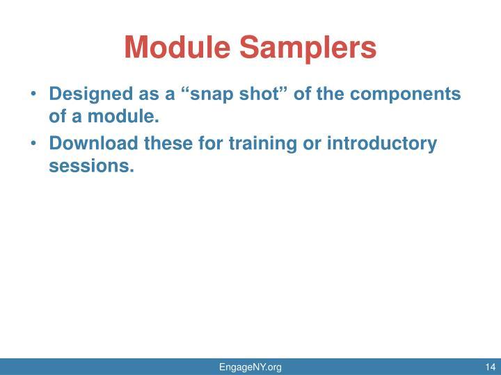 Module Samplers