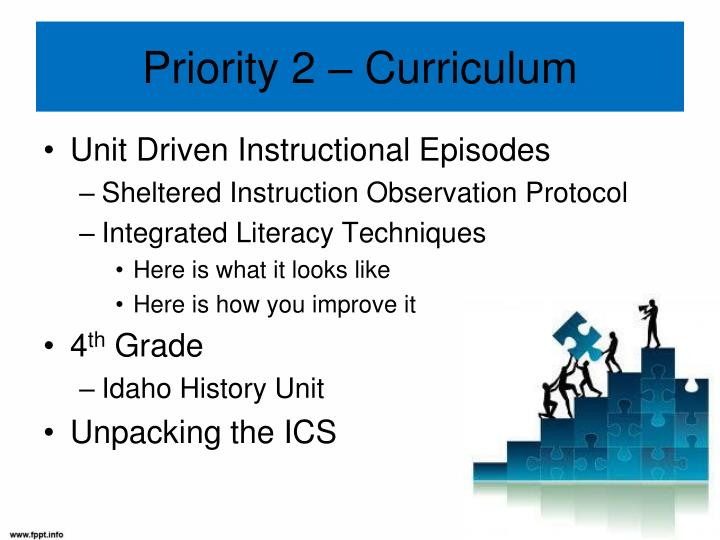 Priority 2 – Curriculum