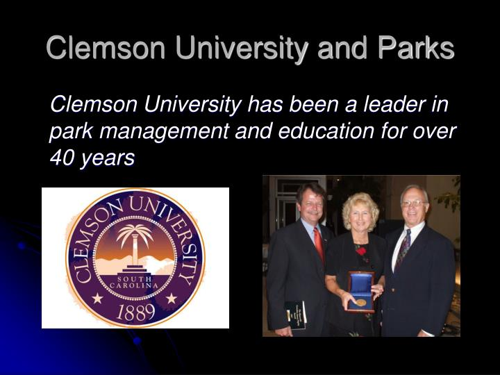 Clemson university and parks