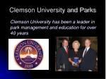 clemson university and parks