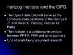 hartzog institute and the opg