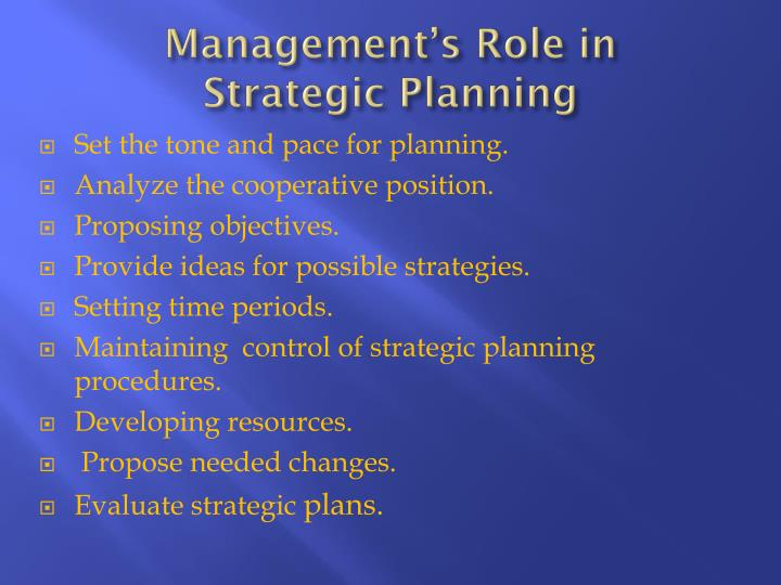 Management's Role in