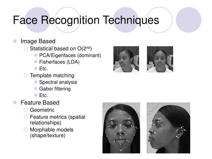 Face Recognition Techniques