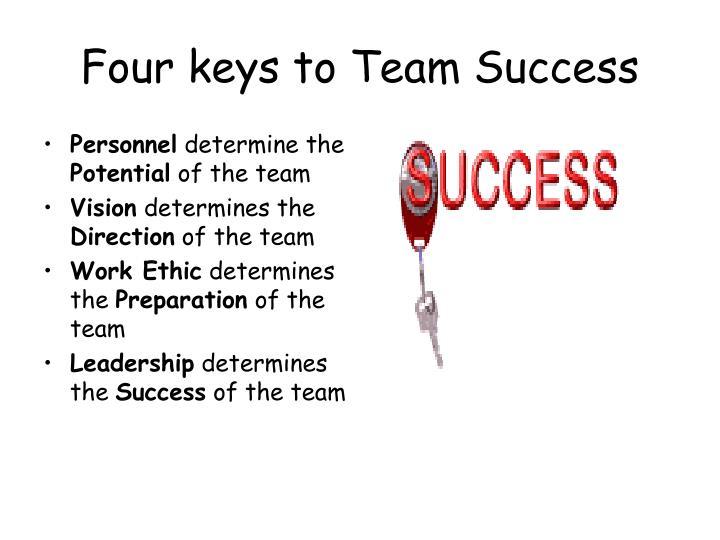 Four keys to Team Success