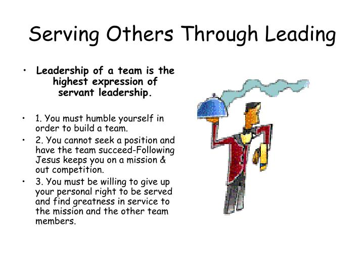 Serving Others Through Leading