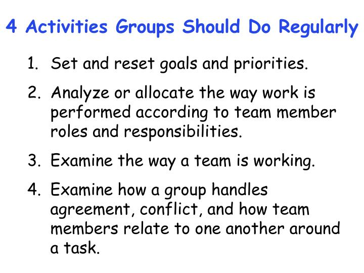 4 Activities Groups Should Do Regularly
