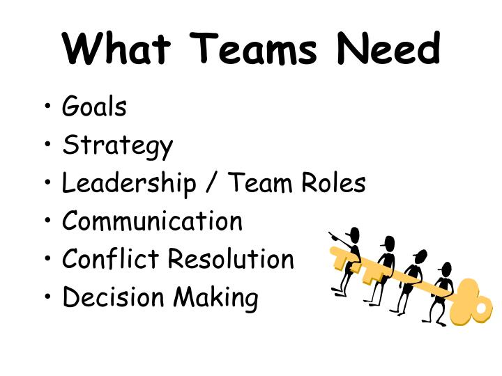 What Teams Need