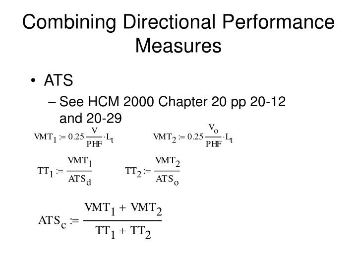 Combining Directional Performance Measures