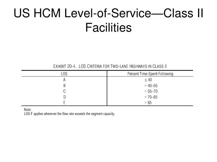 US HCM Level-of-Service—Class II Facilities