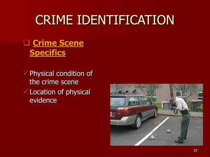 CRIME IDENTIFICATION