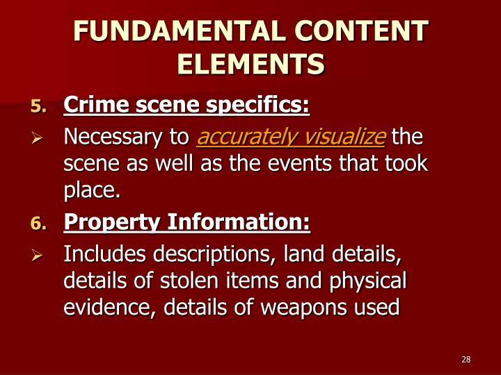 FUNDAMENTAL CONTENT ELEMENTS