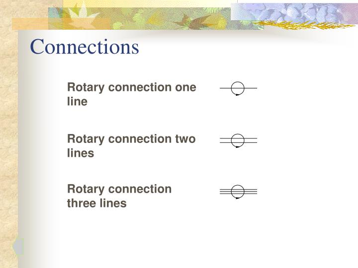 Rotary connection one line