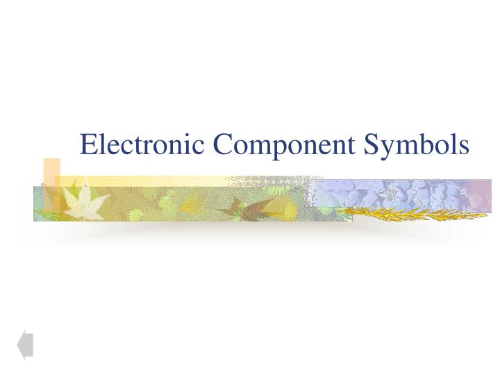 Electronic Component Symbols
