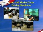 army and marine corps driving simulators