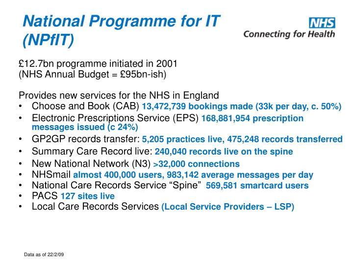 National programme for it npfit