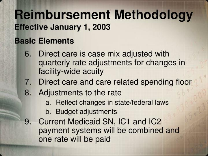 Reimbursement Methodology