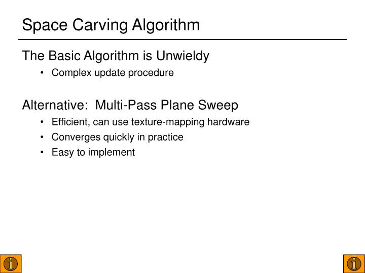Space Carving Algorithm
