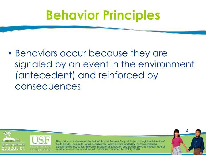Behavior Principles