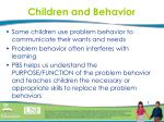 children and behavior