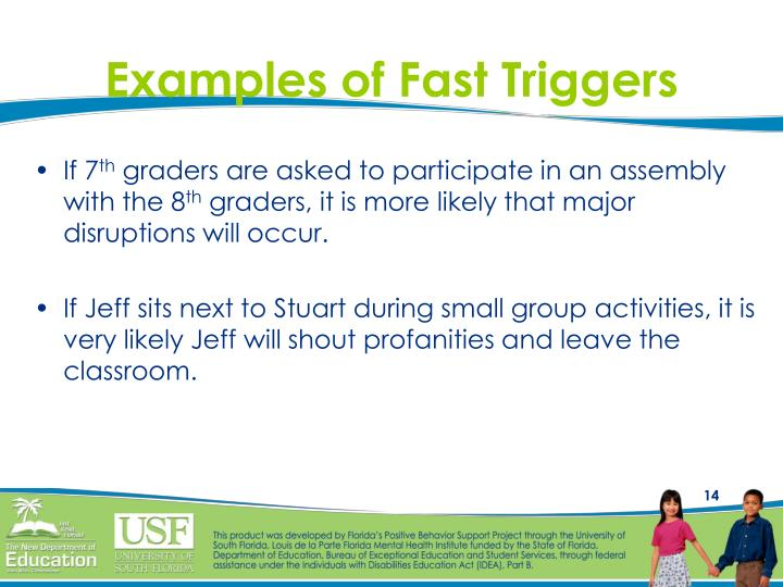 Examples of Fast Triggers