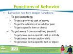functions of behavior1