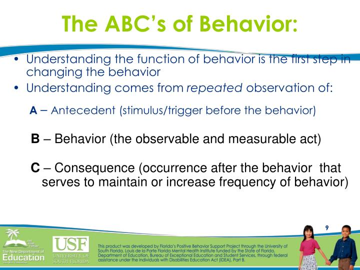 The ABC's of Behavior: