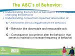 the abc s of behavior1