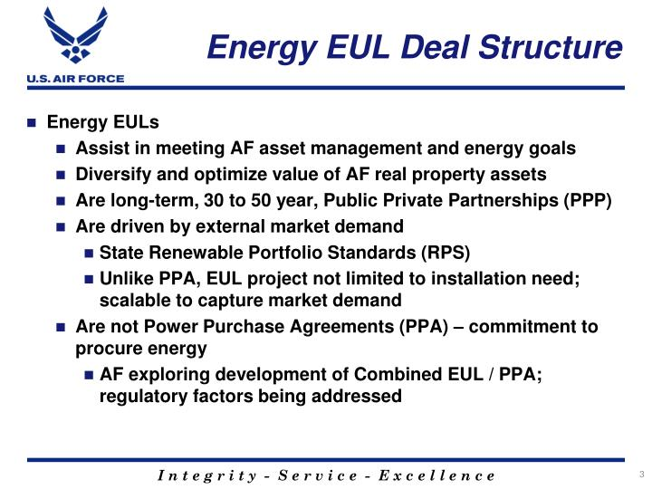 Energy eul deal structure