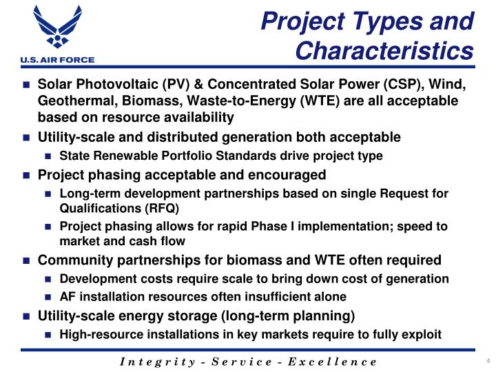 Project Types and Characteristics